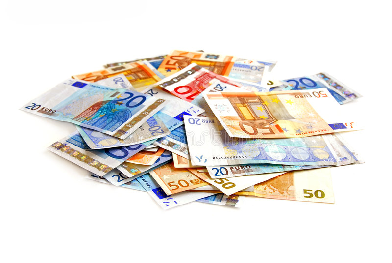 Pila euro imagen de archivo libre de regalías