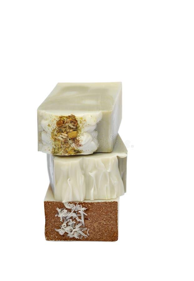 Pila hecha a mano del jabón foto de archivo libre de regalías