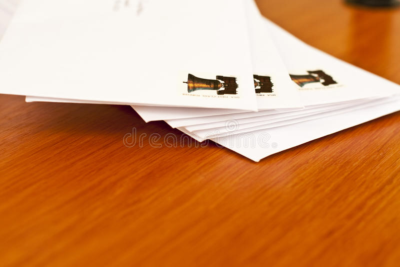 Pila orizzontale di lettere fotografie stock libere da diritti