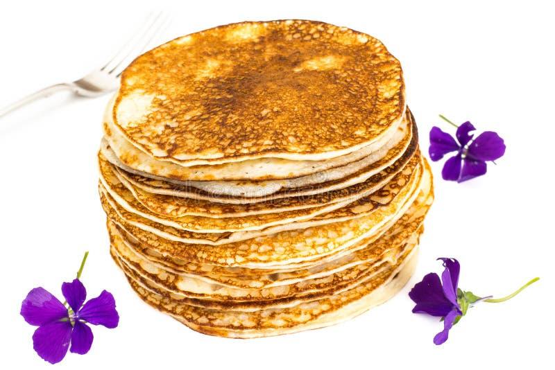 Pila saporita dei pancake fotografie stock