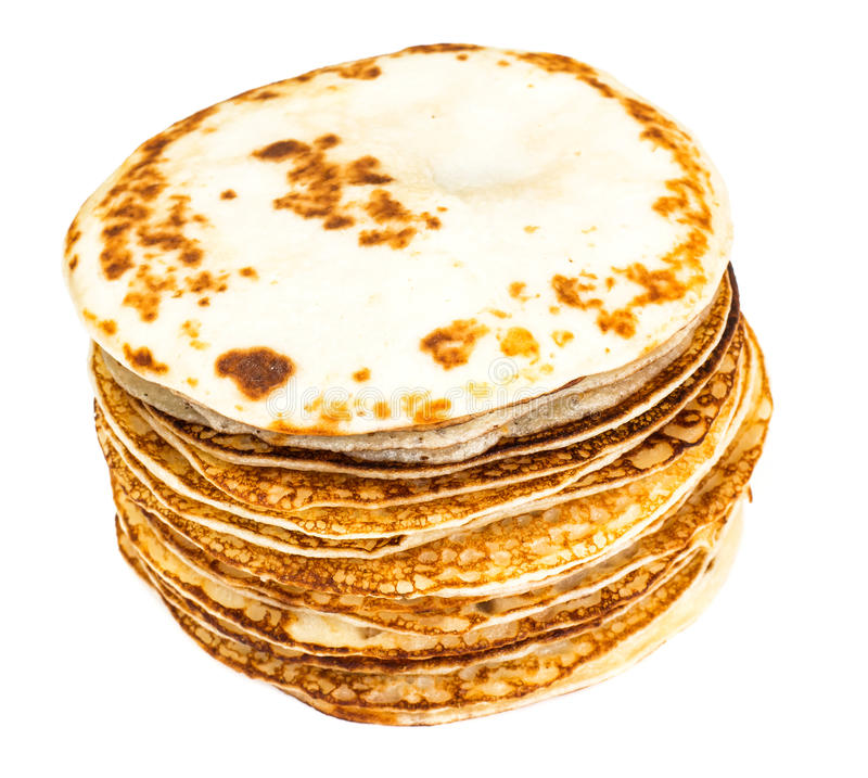 Pila saporita dei pancake fotografia stock