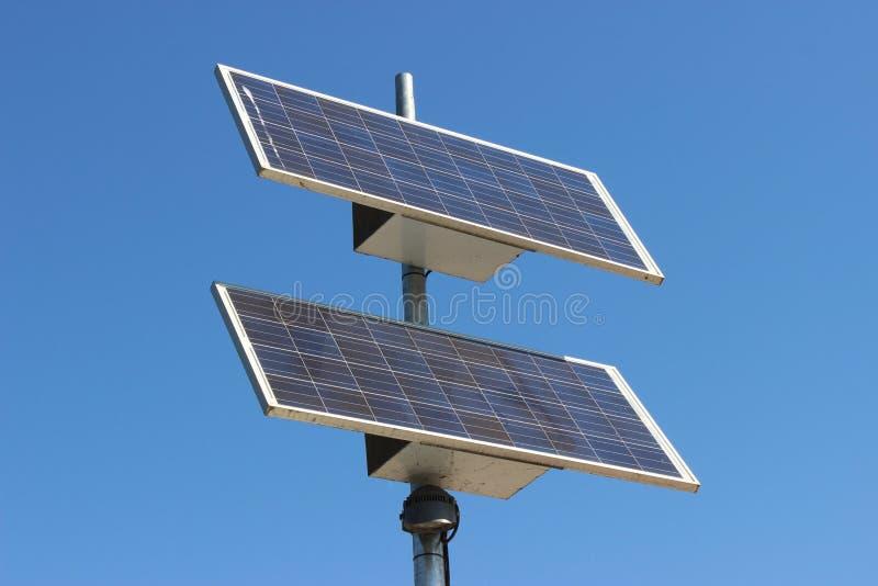 Pila solare moderna fotografia stock libera da diritti