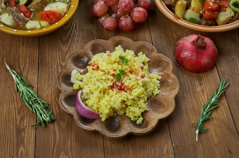 Pilaf риса тетенек армянский стоковые фото