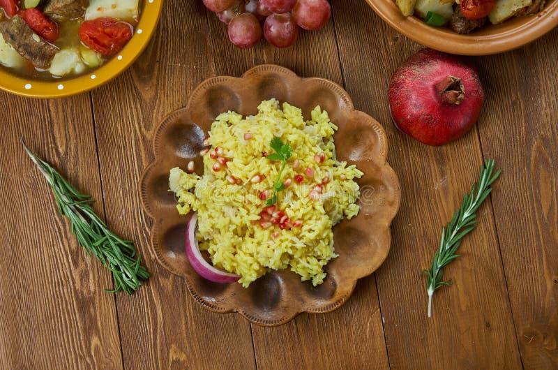 Pilaf arménien de riz de tantes photo stock
