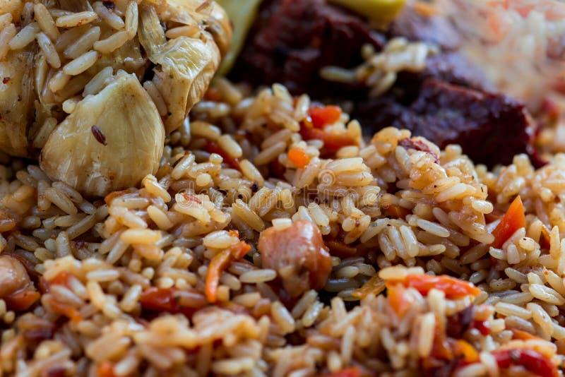Pilaf ! Cuisine asiatique photographie stock libre de droits