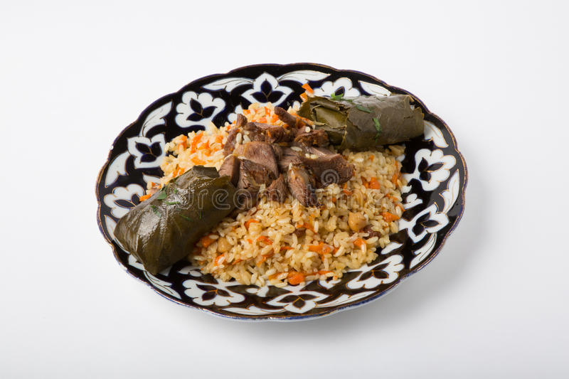 Pilaf with dolma royalty free stock photos
