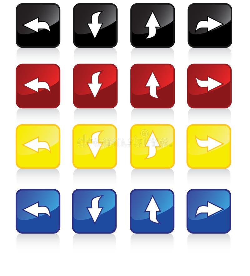 pilar 4pack vektor illustrationer