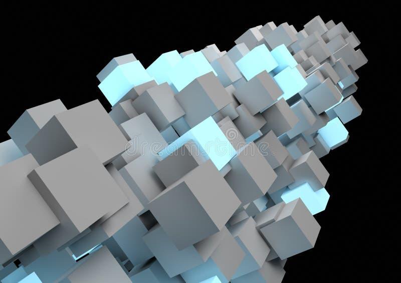 Pilar abstracto del cubo stock de ilustración