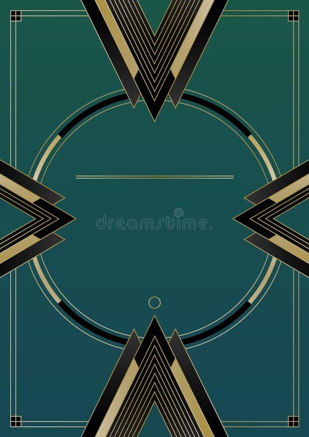 Pilar Art Deco Background royaltyfri illustrationer