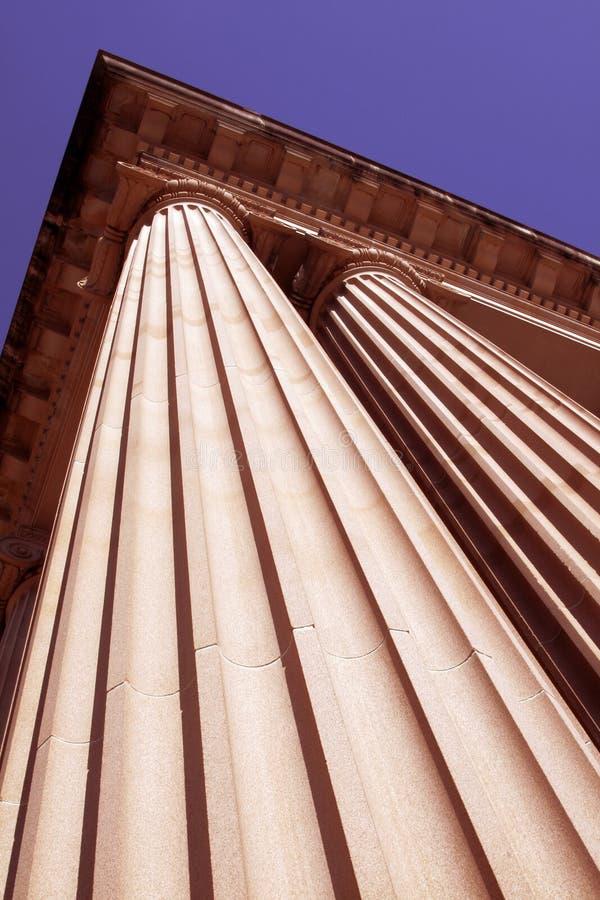 Pilar clásico de la columna imagenes de archivo
