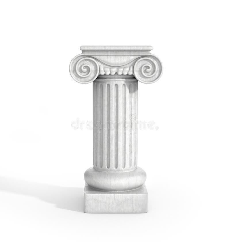 Pilar dórico alto de la columna ilustración del vector