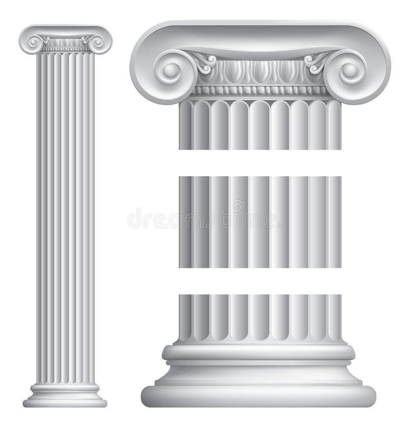 Pilar de la columna stock de ilustración