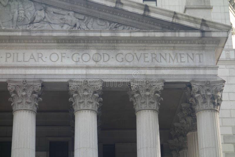 Pilar del buen gobierno imagenes de archivo