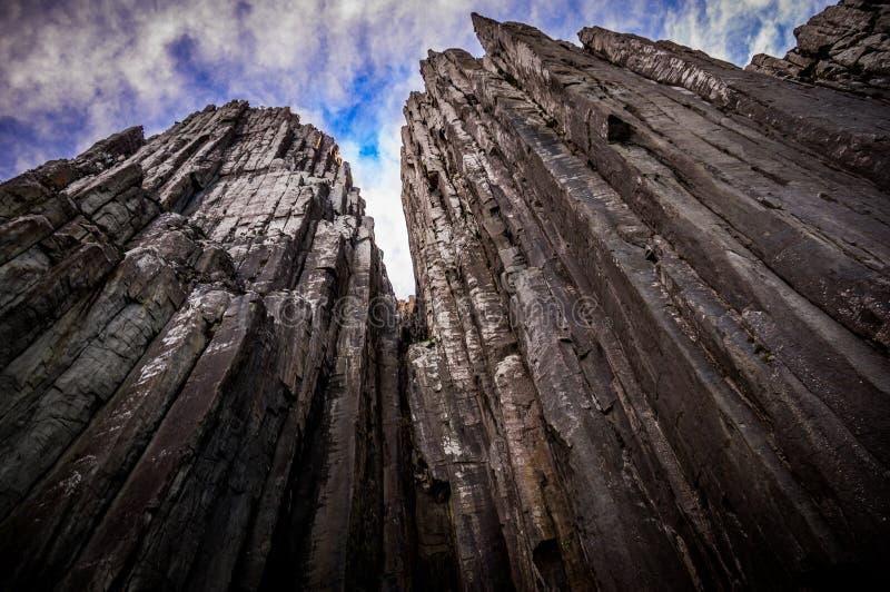 Pilar del cabo en el parque nacional de Tasman, Australia fotos de archivo