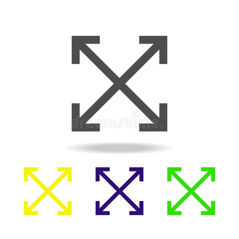 pilar i flerfärgad symbol för 4 riktningar Beståndsdel av rengöringsduksymboler Tecken och symbolsymbol för websites, rengöringsd stock illustrationer