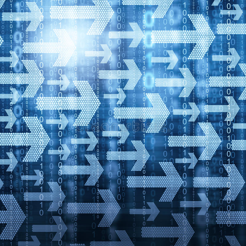 Pilar och binär kod arkivfoton