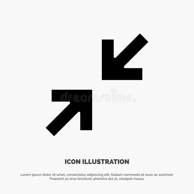 Pilar pil, för skårasymbol för zoom fast vektor vektor illustrationer