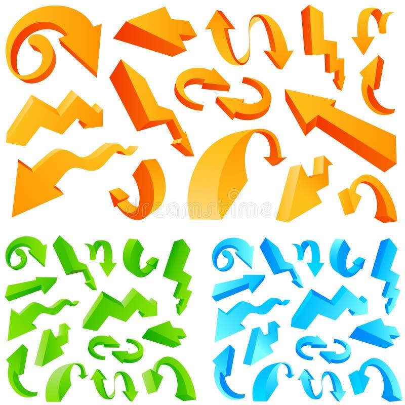 pilar ställde in blankt vektor illustrationer