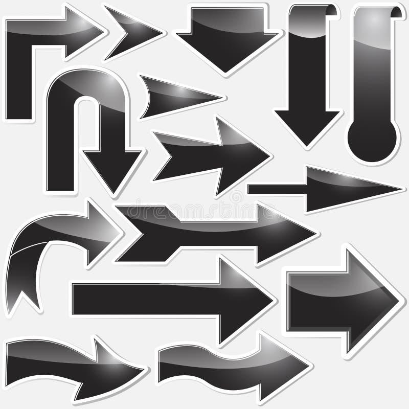 pilar ställde in etiketter vektor illustrationer