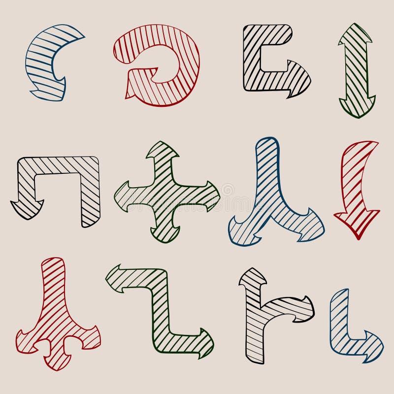 pilar tecknad set vektor för handillustration vektor illustrationer