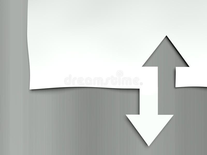 Pilar upp och ner, begrepp av skillnader stock illustrationer
