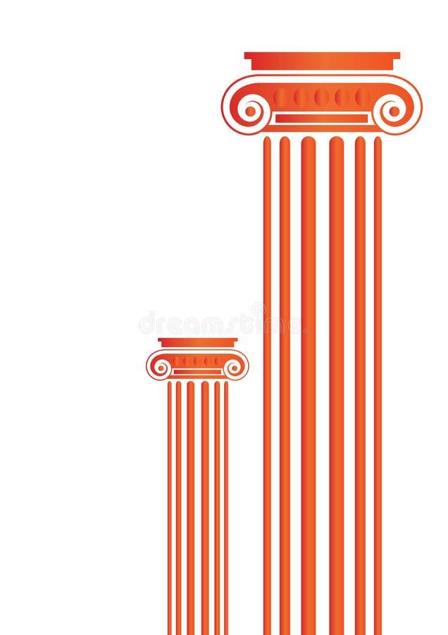 Pilares antiguos griegos ilustración del vector