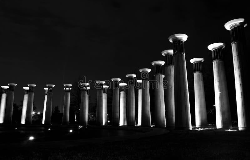 Pilares de la luz fotografía de archivo