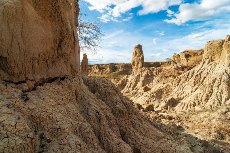 Pilares de piedra del desierto imágenes de archivo libres de regalías
