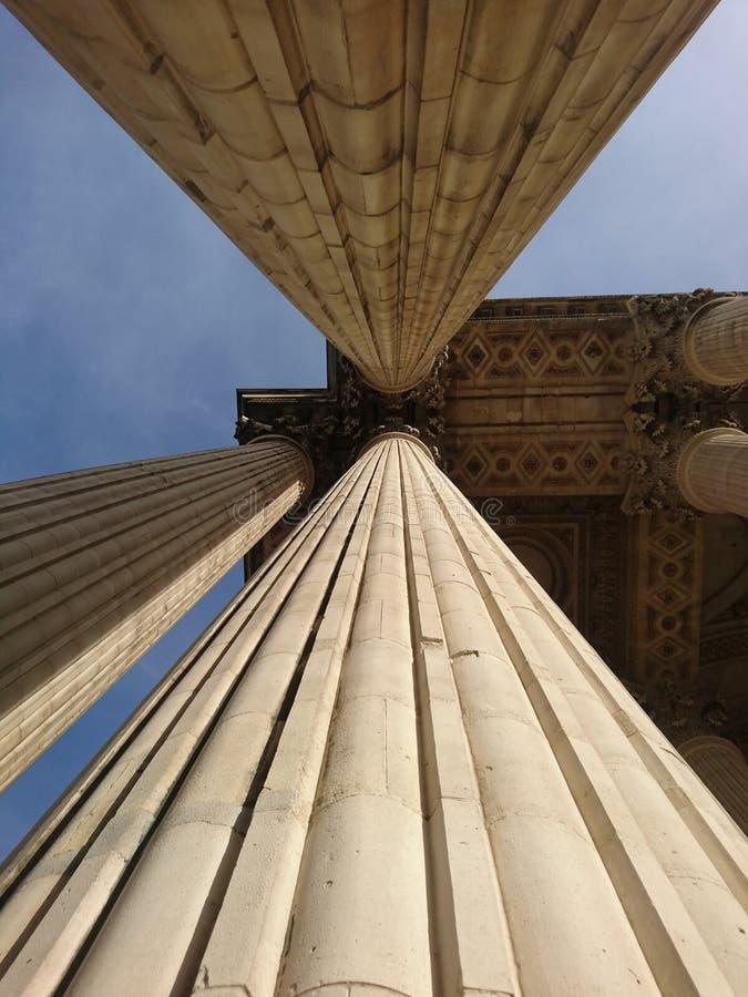Pilares del Corinthian del Panthéon París fotos de archivo