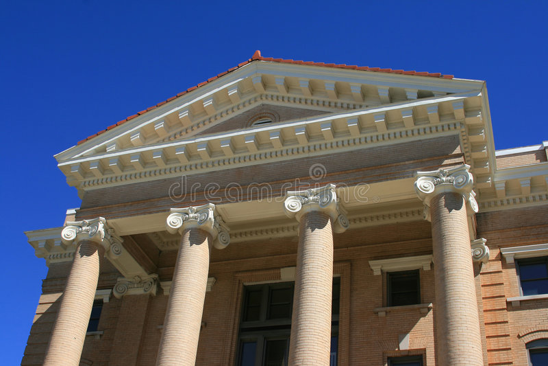 Pilares del Palacio de Justicia imagenes de archivo