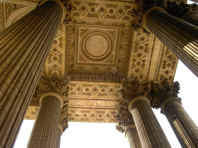 Pilares del panteón fotografía de archivo libre de regalías