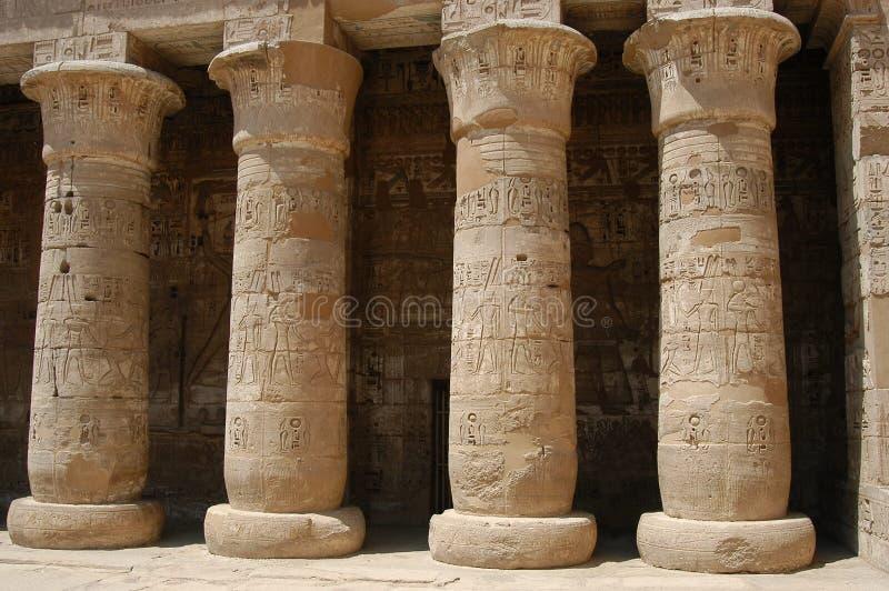 Pilares egipcios foto de archivo