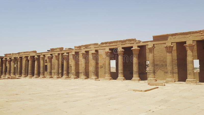 Pilares en Egipto imagen de archivo libre de regalías