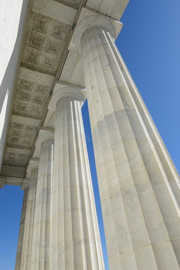 Pilares en Lincoln Memorial fotografía de archivo