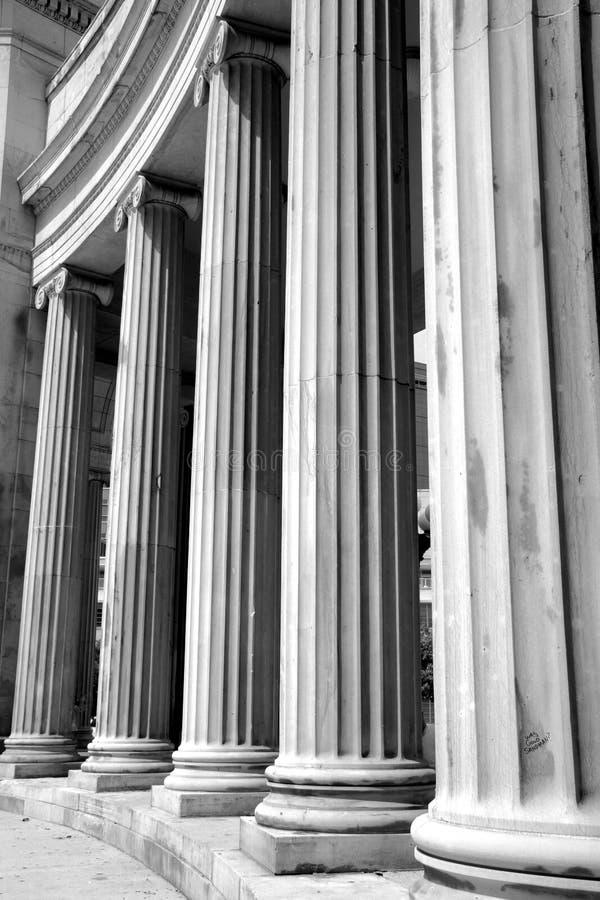 Pilares históricos de Denver imagen de archivo