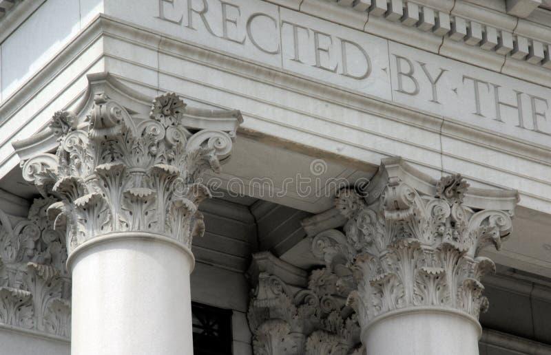 Pilares históricos de Denver fotos de archivo