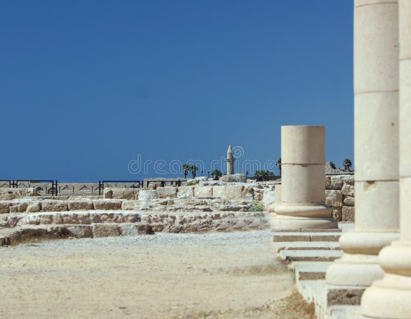 Pilares romanos imagenes de archivo