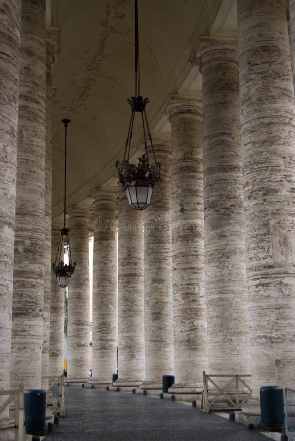 pilars梵蒂冈 免版税库存图片
