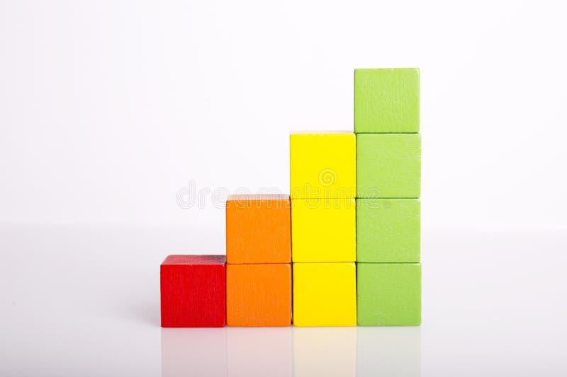 Pilas de bloques multicolores del juguete fotos de archivo