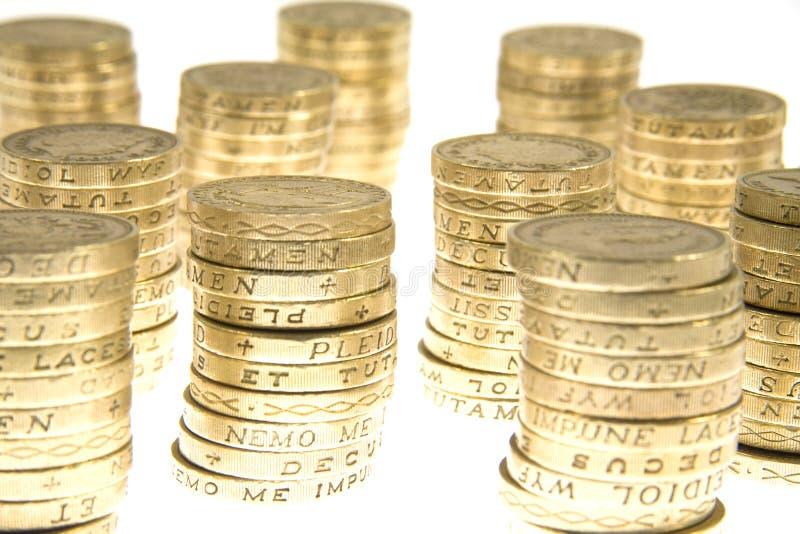 Pilas de dinero fotografía de archivo libre de regalías