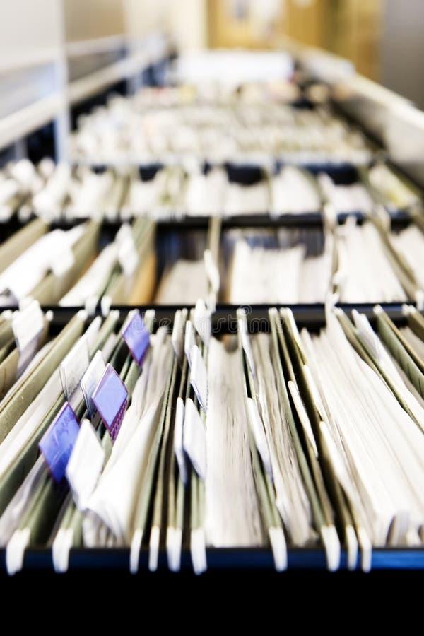 Pilas de ficheros imagen de archivo libre de regalías