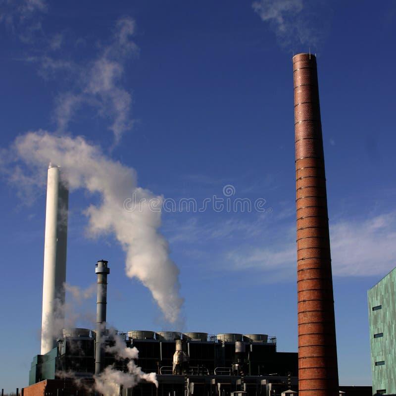 Pilas de humo fotografía de archivo