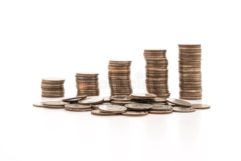 Pilas de la moneda imagen de archivo libre de regalías