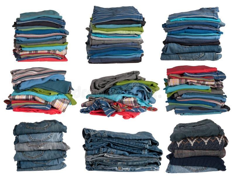 Pilas de la ropa fotografía de archivo