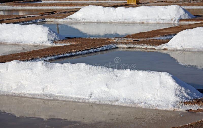 Pilas de la sal imagenes de archivo