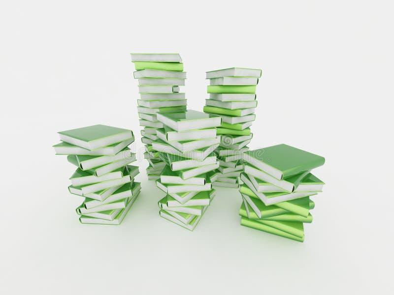 Pilas de libros stock de ilustración