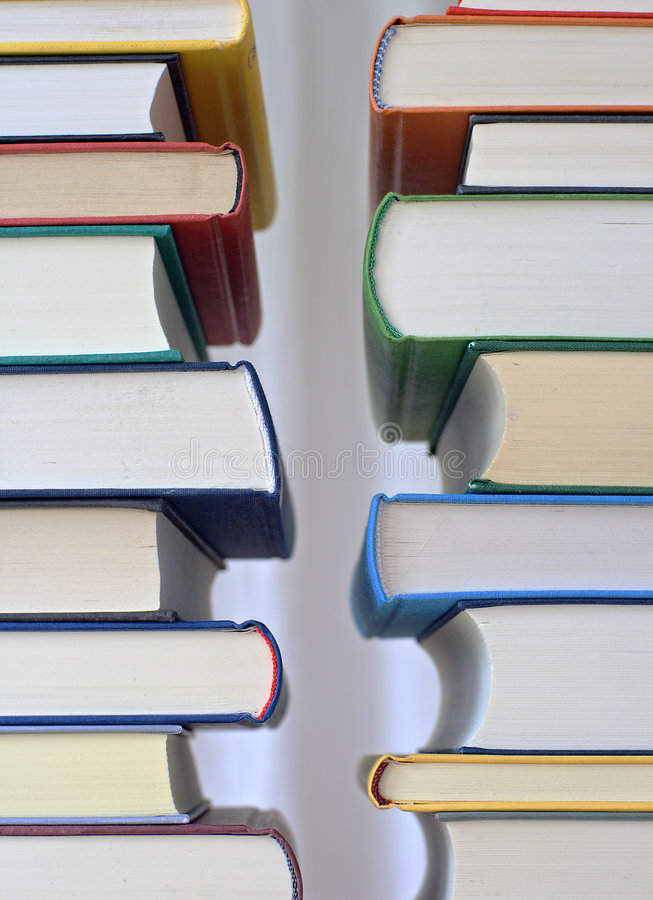 Pilas de libros foto de archivo libre de regalías