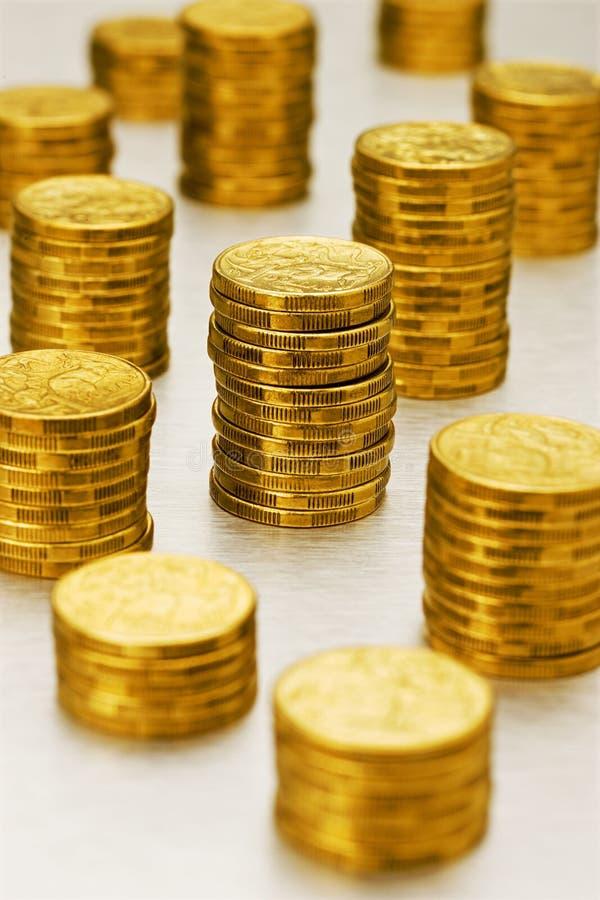 Pilas del dólar australiano imágenes de archivo libres de regalías