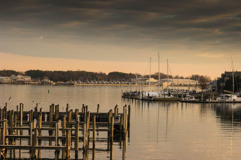 Pilastri della baia di Chesapeake fotografia stock libera da diritti
