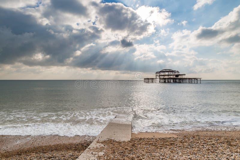 Pilastro ad ovest, Brighton fotografia stock